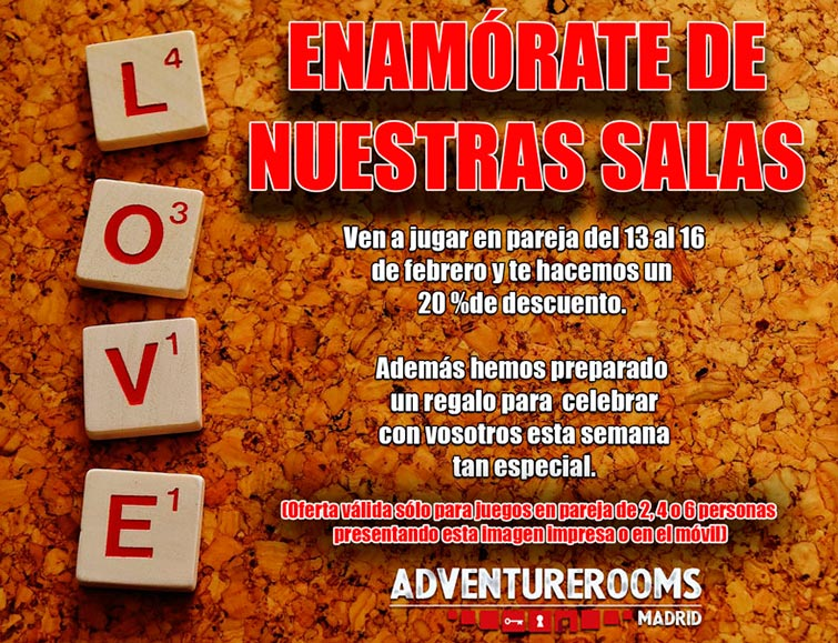 Coupons for adventure rooms